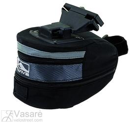 Clip-on saddle bag, black, size: L