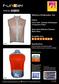 Reflective windbreak vest WV-1506XL