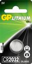 Battery GP CR2032, 3V, Lithium, 1pcs.