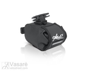 XLC saddle Bag BA-W22 black/graphit, waterproof 13,5x9x9 cm