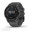 Garmin fēnix 6 - Pro Solar Edition, black with slate grey band
