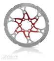 XLC brake disc BR-X59, 180 mm red/silver with CNC Reibring