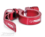 XLC seat post-clamp ring PC-L04,34,9 mm red with QR