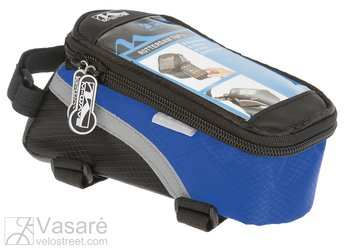 "top tube bag ""M-WAVE"" for smartphone, blue"